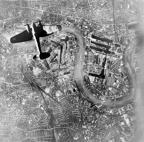 Luftwaffe bomber over London - Battle of Britain 1940